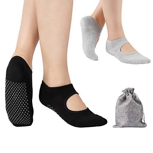 Tusscle Yoga Socken für Damen, Stoppersocken...
