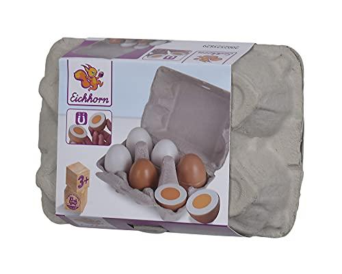 Eichhorn 100003737 - Eierbox mit 6 Eiern, 3x mit...