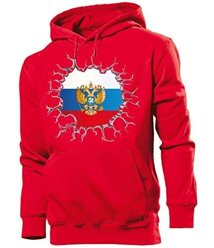 Russland ?????? Russia Fussball Fanhoodie Fan...