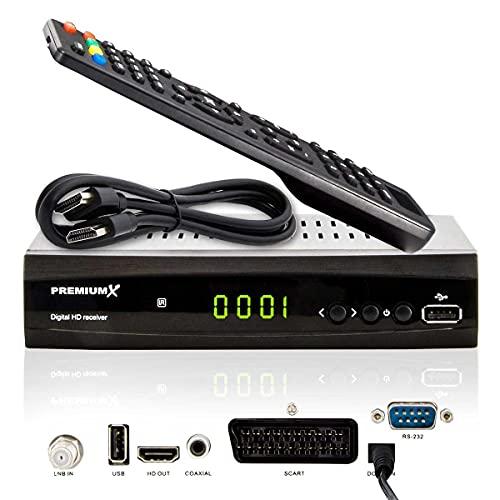PremiumX Satelliten-Receiver HD 521 FTA Digital...