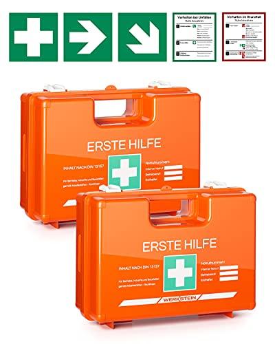 2x Erste Hilfe Kasten mit Inhalt nach DIN 13157 I...