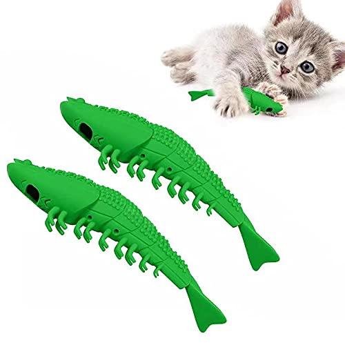 EKKONG Katzen Zahnbürste, Katze Fischform...