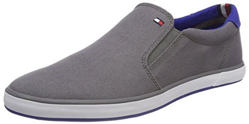 Tommy Hilfiger Herren Iconic Slip ON Sneaker, Grau...