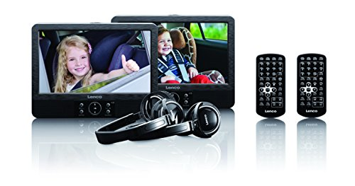 Lenco DVP-939 9-Zoll Tragbares DVD-Player Set...