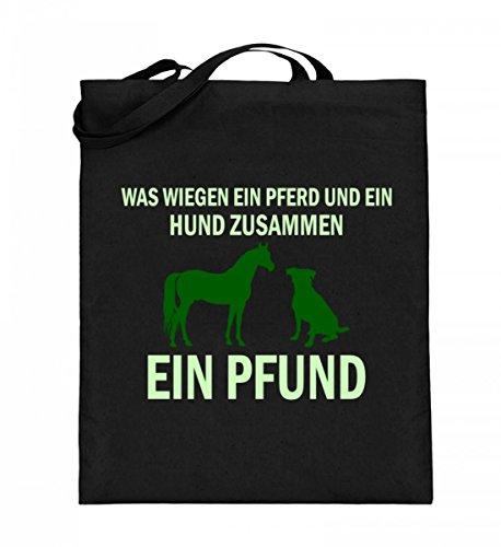 SPIRITSHIRTSHOP Was Wiegen Ein Pferd Und Ein Huns...