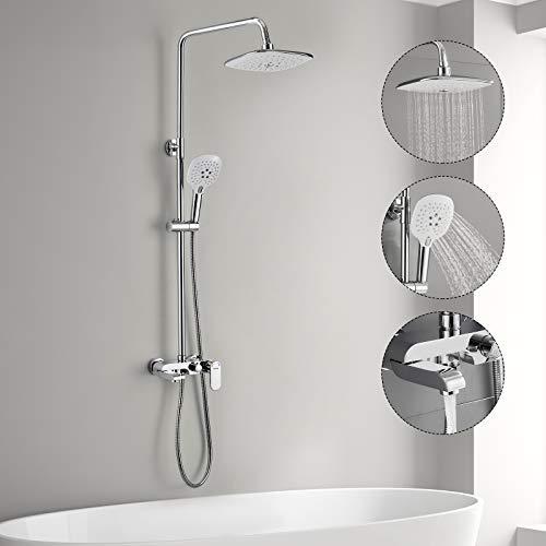 3-Funktion Duschsystem mit Armatur, WOOHSE...