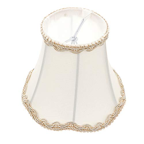 OSALADI Vintage Lampenschirm Stoff Royal Bell Form...