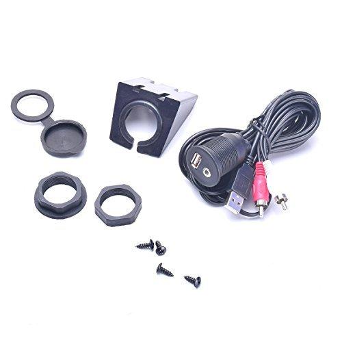 BGoodVision Auto USB & 2 Cinch RCA Phono auf 3,5...