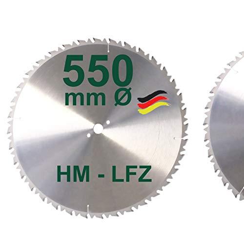 HM Sägeblatt 550 mm LFZ Flach-Zahn Hartmetall...