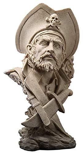 Desktop-Skulptur Sandstein Pirat Skulptur Harz...