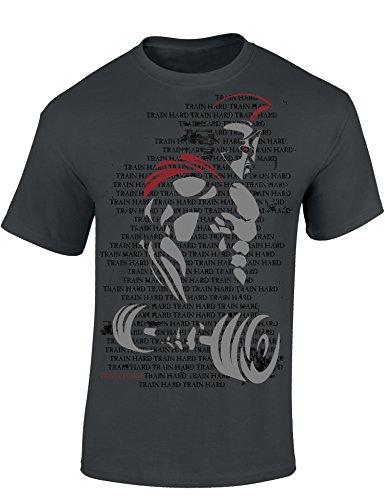 T-Shirt: Train Hard Spartan - Fitness Geschenke...
