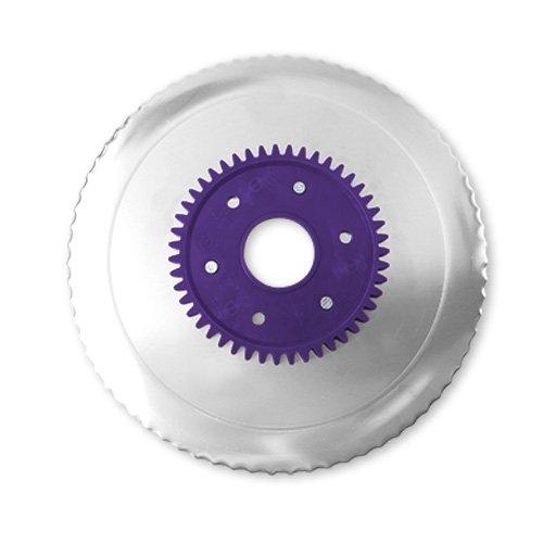 Wellenschliffmesser elektrolytisch poliert lila...