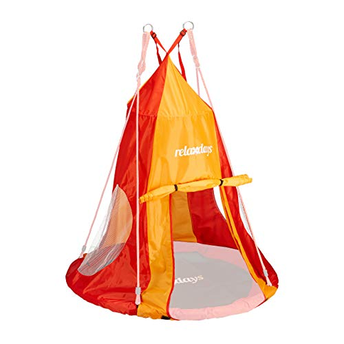 Relaxdays, rot-orange Zelt für Nestschaukel,...