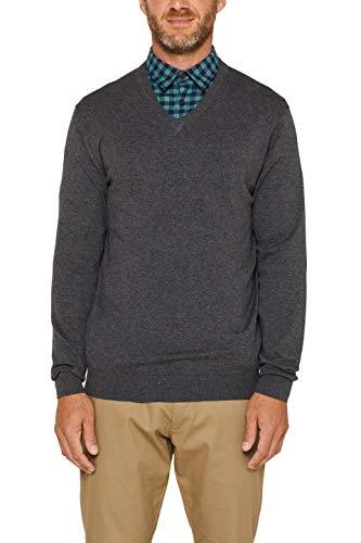 ESPRIT Herren 999EE2I804 Pullover, Grau (Dark Grey...