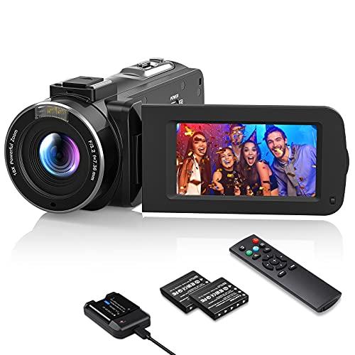 Videokamera 1080P Wlan, MELCAM Vlogging Kamera FHD...
