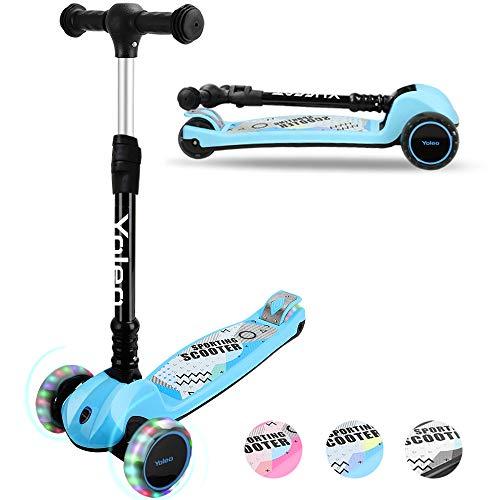 YOLEO Kinder Roller Kinderscooter Dreiradscooter...