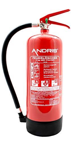 Orig. ANDRIS® Marken-Qualitäts-Feuerlöscher 6kg...