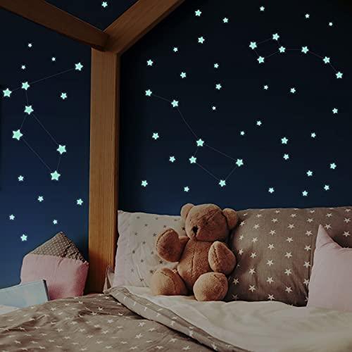 400 Leuchtsterne selbstklebend [Perfekter Halt auf...