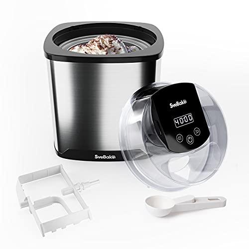 SveBake Eismaschine mit 2 Liter Gefrierbehälter...