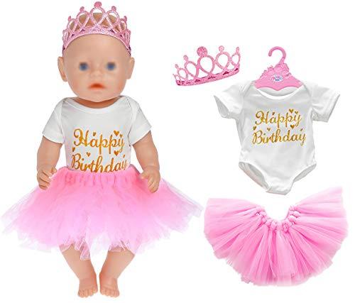 3pc / Set Geburtstag Puppe Kleidung Zubehör...