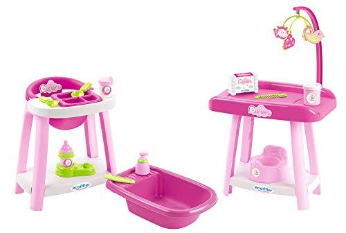Ecoiffier – 3in1 Spielcenter für Puppen –...