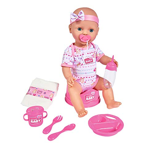 Simba 105039005 - New Born Baby Puppe / Trink- und...