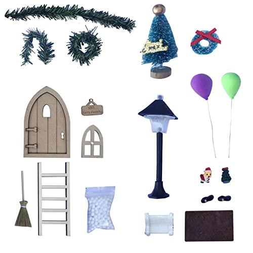FuyongKang Wichteltür Weihnachten Set Miniatur...