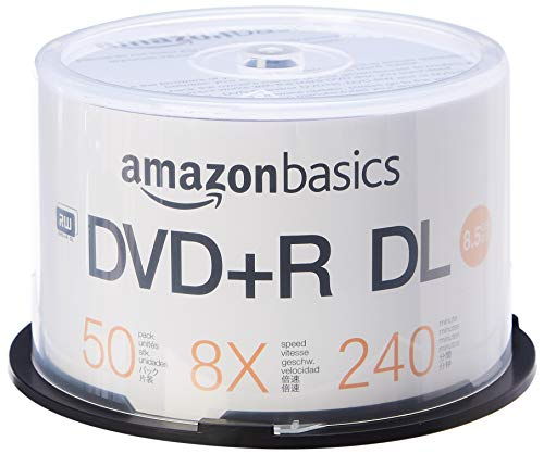 Amazon Basics – DVD+R-DL-Rohlinge, 8,5 GB, 8x,...