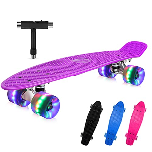 BELEEV Skateboard 22 Zoll Komplette Mini Cruiser...