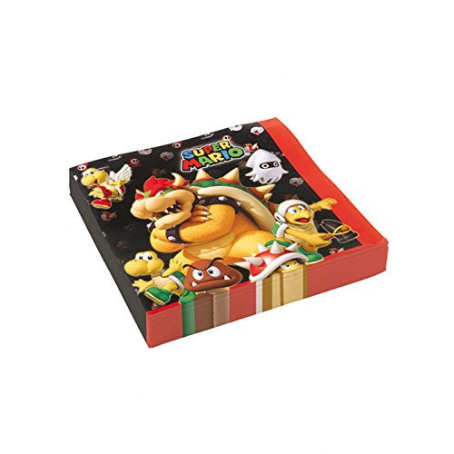 PARTY DISCOUNT ® Servietten Super Mario, 20...