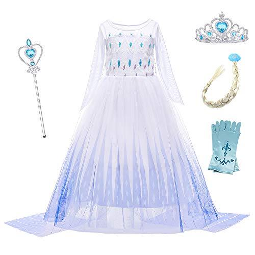 YOSICIL Eiskönigin 2 Prinzessin Kostüm Ice Queen...
