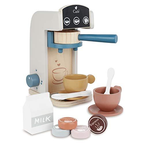 Little Log Holz Kaffeemaschine Set, Kaffeemaschine...