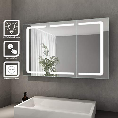 Elegant Bad Spiegelschrank mit Beleuchtung LED...