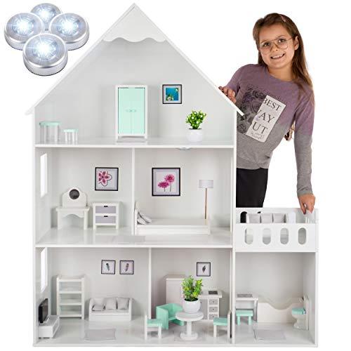 Kinderplay Puppenhaus Holz Groß, Barbie...