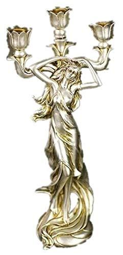 Desktop-Skulptur Vintage Kerzenständer Skulptur...