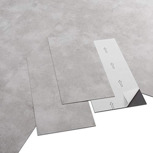 ARTENS - PVC Bodenbelag - Selbstklebende Fliesen -...
