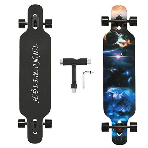 INNOWEIGH 41 Zoll Longboard Skateboard Through...