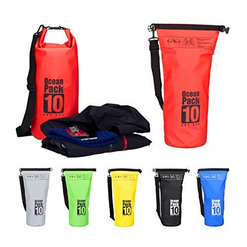 Relaxdays Ocean Pack 10 L, wasserdichter Dry Bag,...