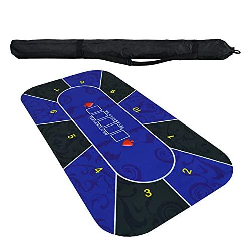 Profi Pokermatte Poker Tischdecke 1,8 mt Texas...