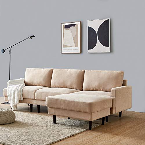DADEA Ecksofa mit Schlaffunktion, Eckcouch Couch...