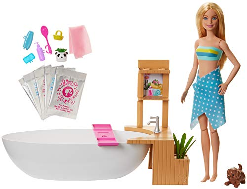 Barbie GJN32 - Wellness Sprudelbad Puppe (blond)...