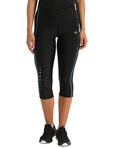 Ultrasport Damen Laufhose, 3/4 Lang, black...