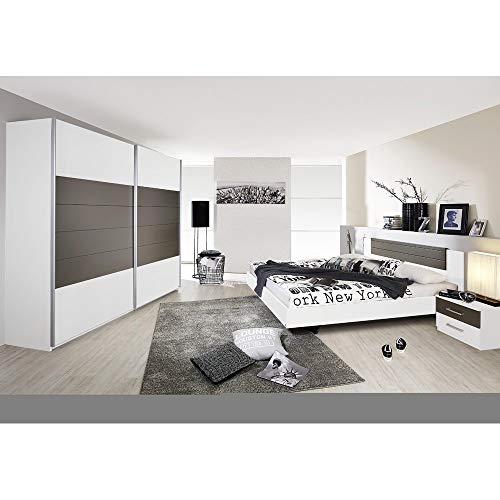 Rauch Möbel Schlafzimmer, Weiß / Lavagrau,...