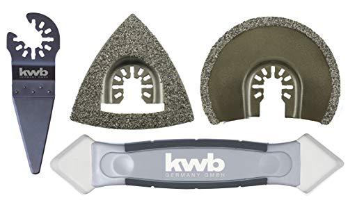 kwb by Einhell 4-tlg. Multi-Tool-Set für Fliesen...