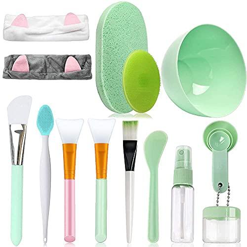 4 Stück Silikon Maskenpinsel, Make-up-Tools Set...
