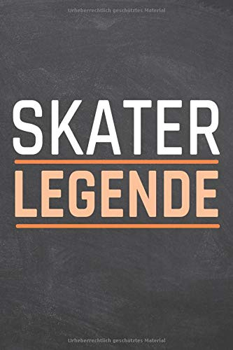 Skater Legende: Skater Punktraster Notizbuch,...