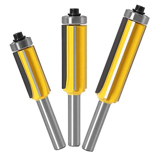 WSOOX 3 Stk 8mm Schaft Bündigfräser Set für...