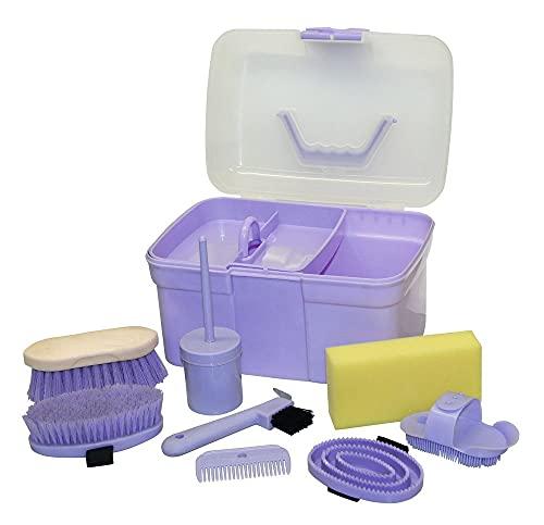 Kerbl Putzbox befüllt für Kinder, lila...