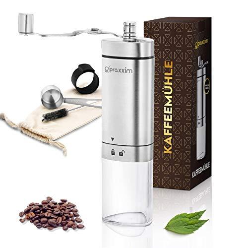 praxxim Kaffeemühle manuell – Handkaffeemühle...