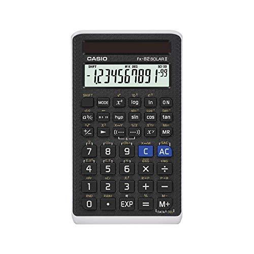 Casio FX-82SOLARII Standard Schulrechner, schwarz